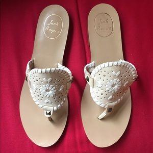 EUC Jack Rogers Georgica Sandal size 9 Bone/White